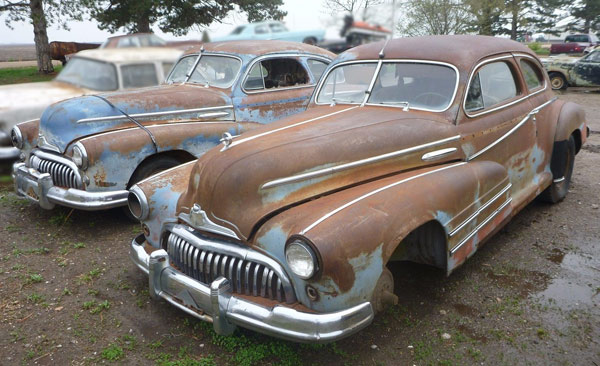 Two 1948 Buicks